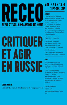 Critiquer et Agir en Russie