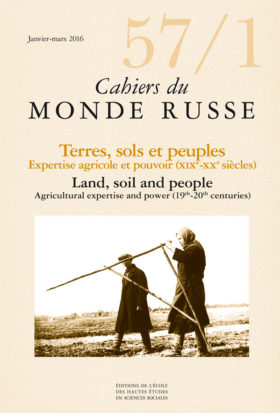 Terres, sols et peuples : expertise agricole et pouvoir (19e – 20e siècles)